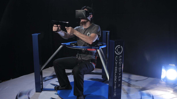 The Virtualizer is a shoeless gaming treadmill that even detects crouching and sitting