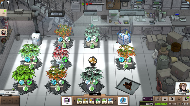 Grow your own marijuana empire in Weedcraft Inc.