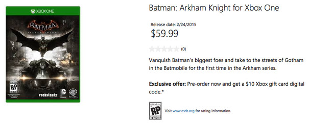 Xbox lets new Arkham Knight release date slip