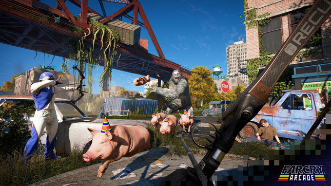 Far Cry 5's expanded map editor contains Assassin's Creed and Watch Dogs assets
