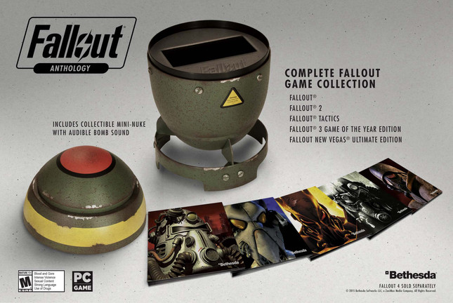 Fallout Anthology collects five games in a mini-nuke