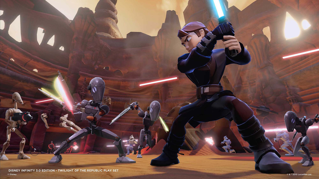 Check out Yoda and Obi-Wan in this Star Wars Play Set from Disney Infinity 3.0