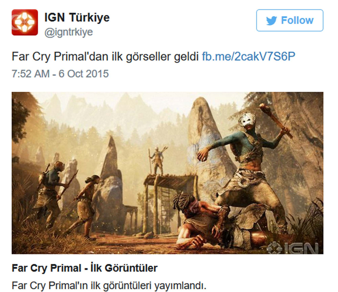 Ice Age Adventure Far Cry Primal Leaked Before Reveal Gameplanet New Zealand