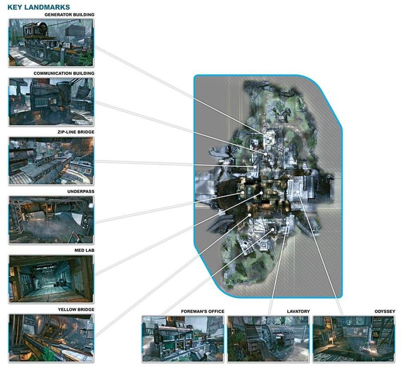 Titanfall maps shown in bird's eye