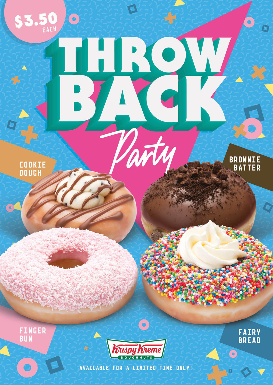 Krispy Kreme Doughnuts launch Throwback Party range