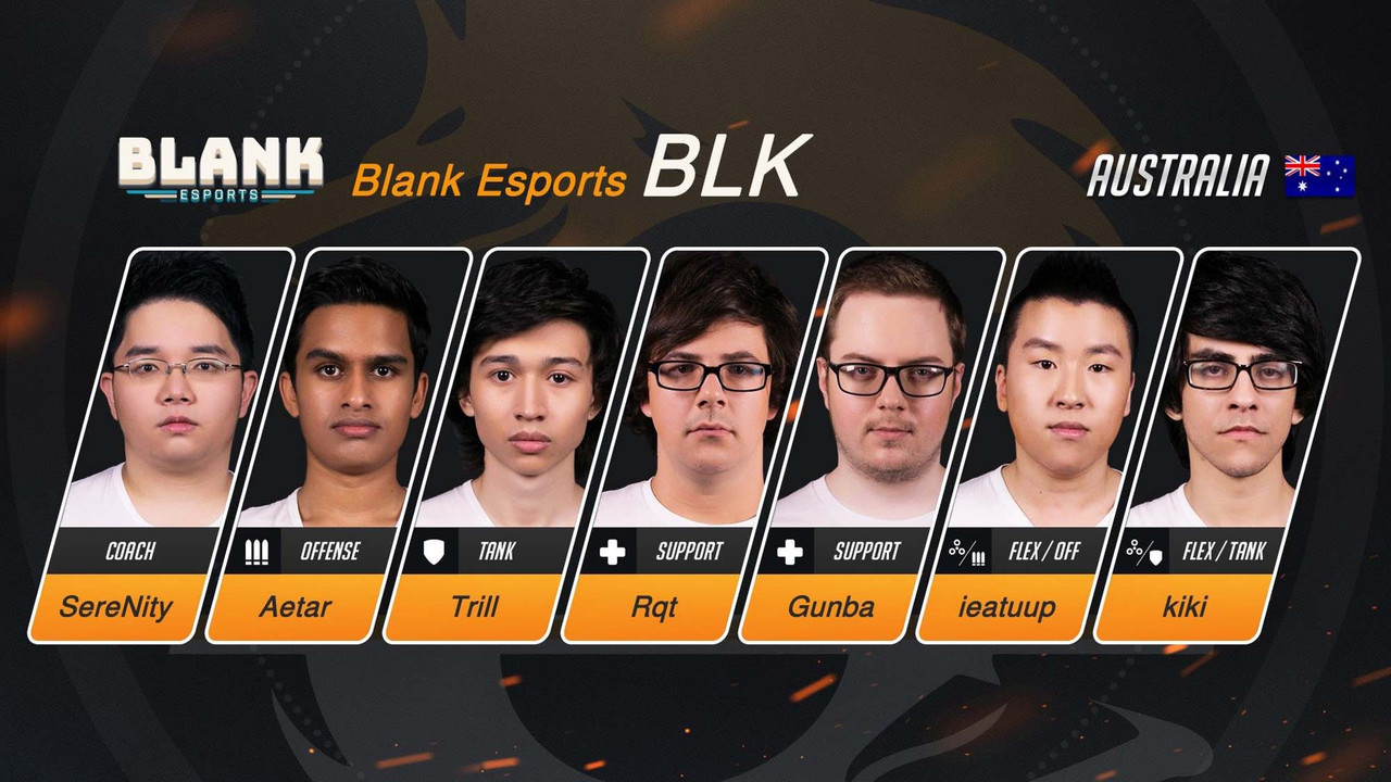 Australia's Blank Esports dominates the first week of Overwatch Pacific Champs