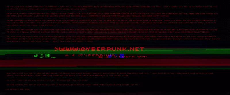 Hidden Cyberpunk teaser message reveals project that is probably The Witcher 3