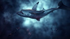 Depth pits divers against sharks in gruesome PvP action