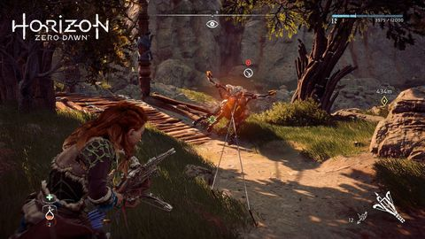 Horizon Zero Dawn's gameplay is catching its hooky premise